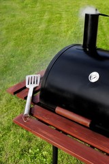 BBQ Grill on the lawn