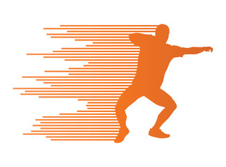 Athletic shot put vector background concept