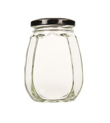 Empty glass jar