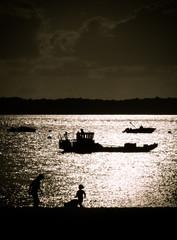 Bassin d'Arcachon à contre-jour