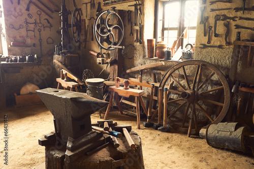 Staande foto Industrial geb. Old workshop