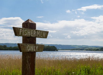 Fishermen Only Sign