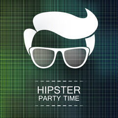 Abstract Hipster Party Card, Cover or Flyer Template