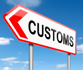 Customs concept.