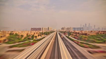 Passenger Train Time Lapse Dubai