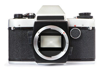 Vintage SLR camera without lens