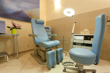 Room with professional equipment in beauty salon