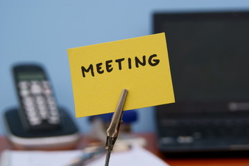 Meeting written at the office
