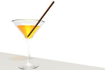Oranje Cocktail met rietje