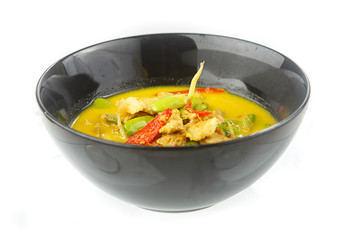 Thai food - Curry with Parkia timoriana and pork