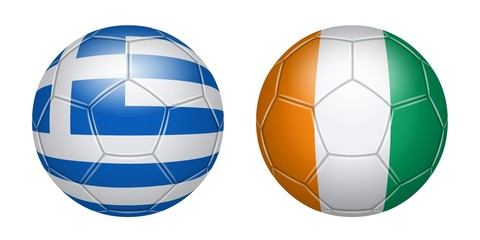Football. Greece Ivory Coast