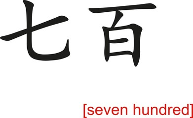Chinese Sign for seven hundred