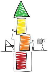 Strichmännchen bauen Turm