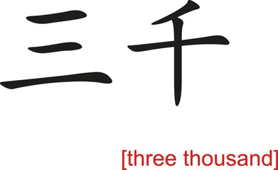 Chinese Sign for three thousand