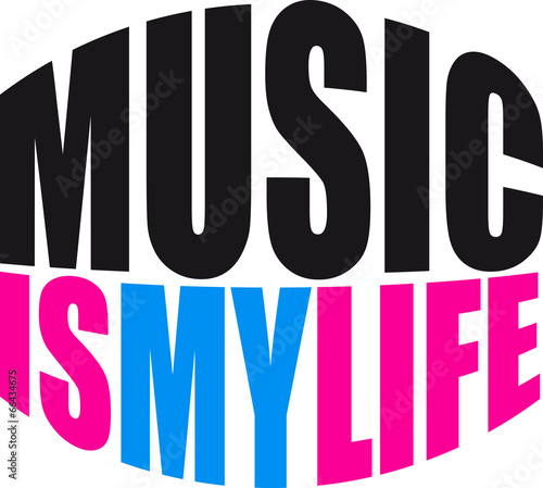 Cool Music is my Life Text © Style-o-Mat