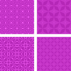 Magenta seamless pattern background set