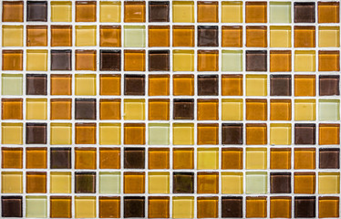 Colorful mosaic glass ceramic tiles wall