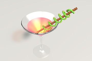 Cocktail glas rose