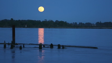Full Moon over Fraser River