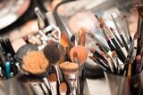 Set of professional make-up brushes