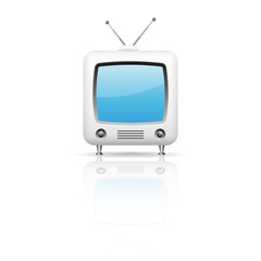 Vector illustration of retro tv