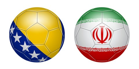 Football. Bosnia-Herzegovina - Iran