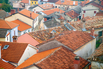 Old tile roofing