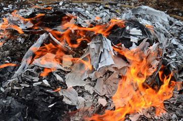Burn joss paper or hell money Chinese Culture