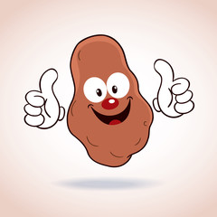 potato mascot cartoon character