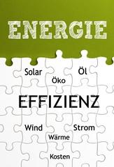 Energie - Effizienz Konzept mit Puzzleteilen