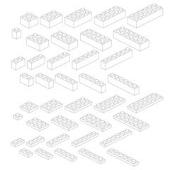 Set de 40 briques Lego - jeu de construction