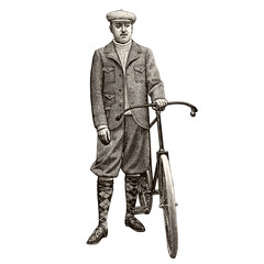 French man with bike