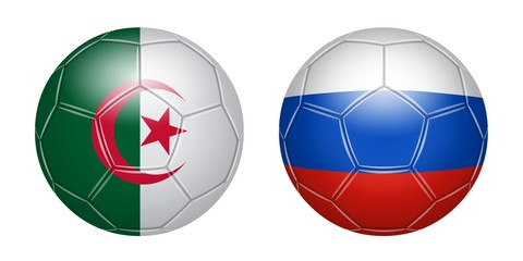 Football. Algeria - Russia