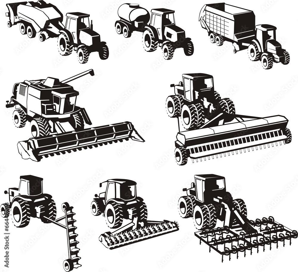 maszyna zestaw traktor - powiększenie