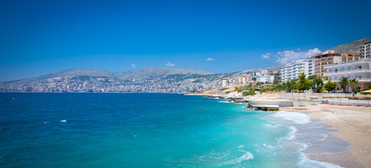 Beautiful beach in Saranda, Albania.