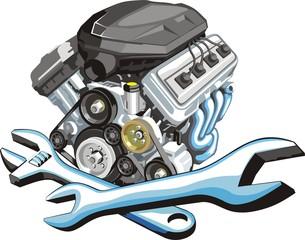 sign of a car engine fix