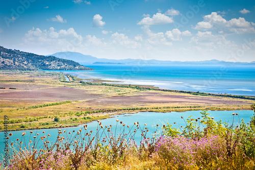 Butrint lake and Vivari channel, Albania.