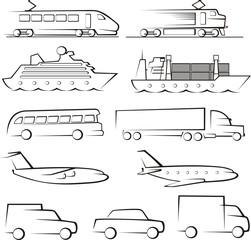 passenger ang cargo transportation contours