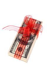 Dollarscheine als Geld Geschenk