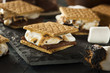 S'mores with Marshmallows Chocolate and Graham Crackers - 66442821
