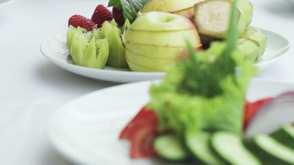 Cut fruits and vegetables