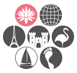 Tourism. Icon Set