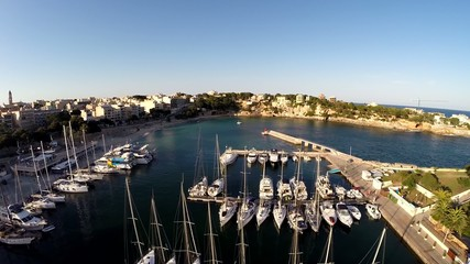 Flyover the Port of Portocristo - Aerial Flight, Mallorca