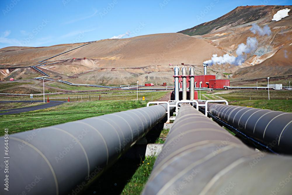 geotermalnych wulkanicznego stacja - powiększenie
