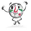 soccer, fan, football, brazi, winner, character, hand drawing