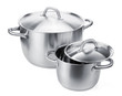 Two stainless steel pots