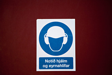 Industial sign - Icelandic