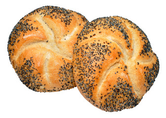 Poppy Seed Covered Bread Rolls