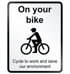 On your Bike Information Sign