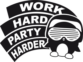 Work Hard Party Harder Logo Design